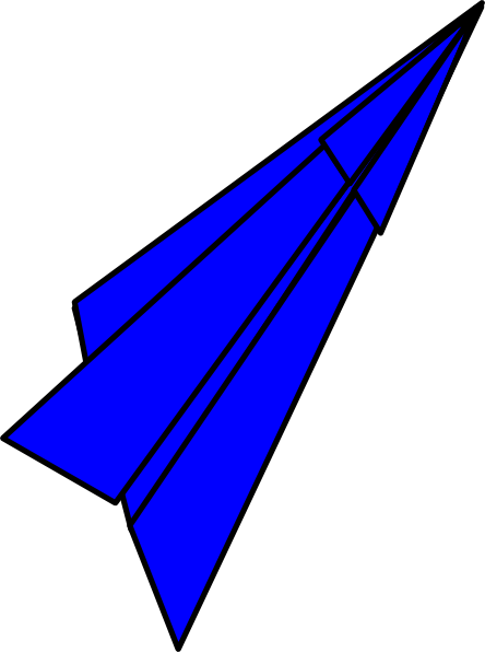 blue paper plane clip art at clker com vector clip art online rh clker com paper flight clipart paper flight clipart