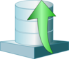 Database Up Icon Clip Art
