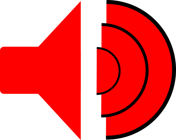 Free Speakers Clipart Red Speaker Gif Clipart