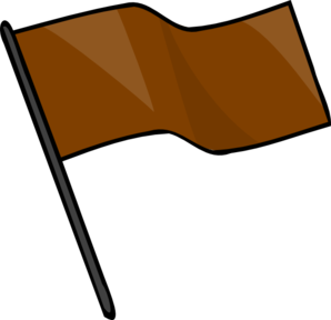 Brown Flag Clip Art