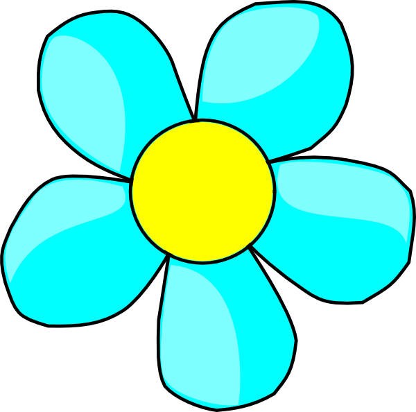 Aqua Flower Clip Art At Vector Clip Art Online Royalty Free Public Domain