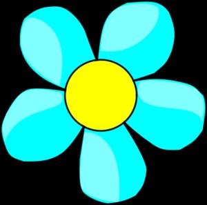 Aqua Flower Clip Art at Clker.com - vector clip art online, royalty ...