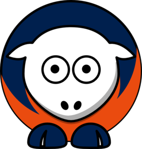 Sheep - Virginia Cavaliers - Team Colors - College Football Clip Art