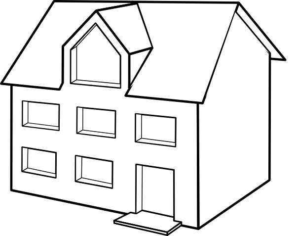 house side view clipart - photo #6
