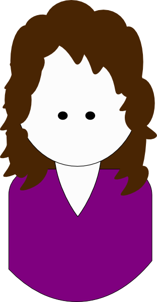 clip art curly hair girl - photo #22