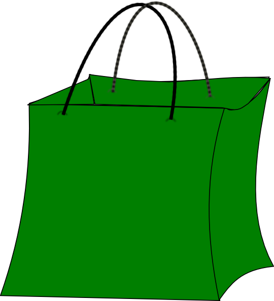 Green gift bag clip art at clker vector
