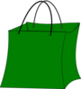 Green Gift Bag Clip Art