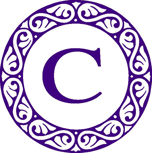 Letter C Monogram Clip Art At Clker Com