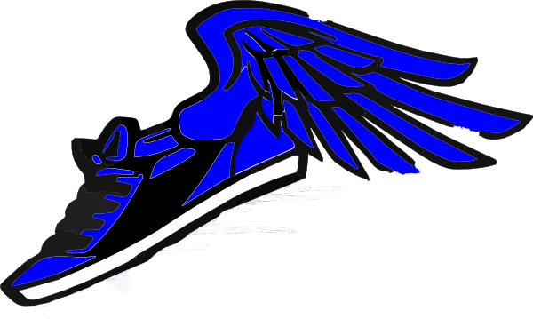running shoe with wings clip art at clkercom vector
