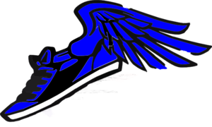 Running Shoe With Wings Clip Art