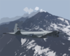 A P-3c Orion Aircraft Assigned To The  Tigers  Of Patrol Squadron Eight (vp-8) Flies Over Mt. Etna. Clip Art