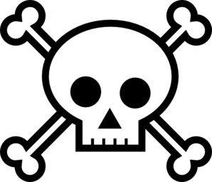 skull and crossbones clip art at clker com vector clip art online rh clker com skull and crossbones clipart free clipart skull and crossbones pirate