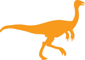 Orange Dino Clip Art