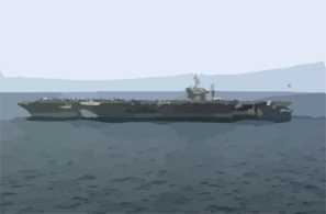 Uss Abraham Lincoln (cvn 72) Steams Alongside Uss Nimitz (cvn 68) During Weapons And Cargo Transfers Between The Two Ships. Clip Art
