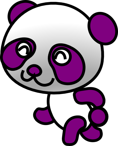 Purple Panda Clip Art at Clker.com - vector clip art online, royalty ... Running Horse Png