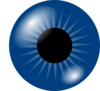 Dark Blue Eye Clip Art