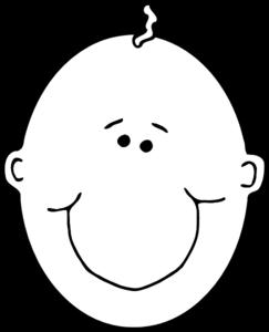 white baby face clip art at clker com vector clip art online rh clker com baby face clip art in color baby face clip art printable