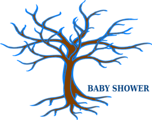 Baby Shower Guest Tree Clip Art