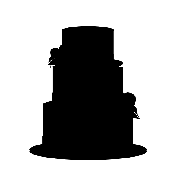 Black Wedding Cake Clip Art at Clker.com - vector clip art ...