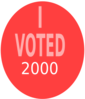 I Voted 2000 Clip Art