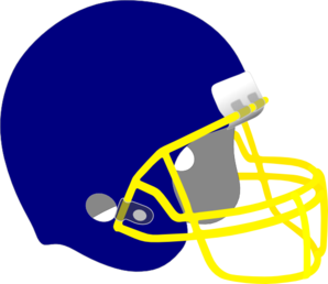Football Helmet Blue And Yellow Clip Art