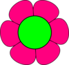 Large Green And Pink Flower Clip Art