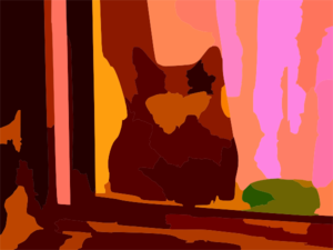 My Neighbours Cat Is Startled Vector Contrast Colour Enhance Revector Clip Art