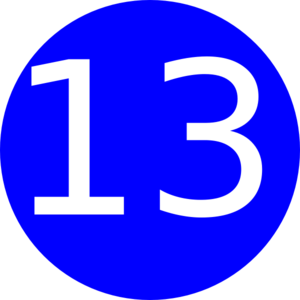 Number 13 Blue Background Clip Art at Clker.com - vector ...