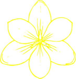 Yellow Flower 35 Clip Art