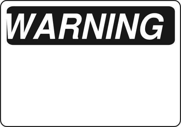 Black  amp  White Warning Sign clip artWarning Signs And Symbols Black And White