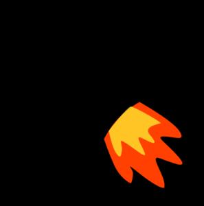 Rocket Flame Clip Art at Clker.com - vector clip art online, royalty ...