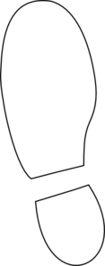 shoe print clip art at clkercom vector clip art online