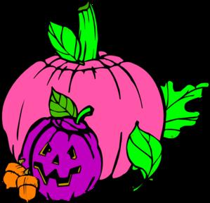 Girly Pumpkin Clip Art at Clker.com - vector clip art online ...