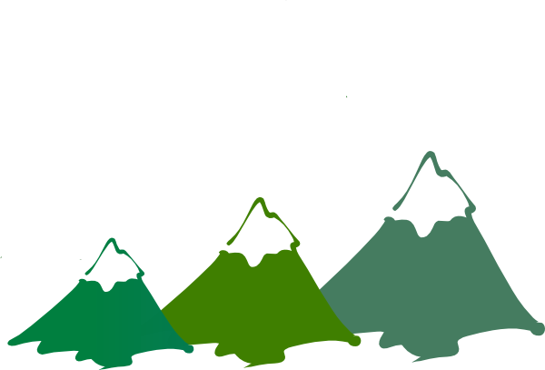 three mountain peaks green clip art at clker com vector clip art rh clker com mountain clip art logo mountain clip art images for headstones