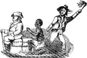 Sad History: Slave Worker Clip Art