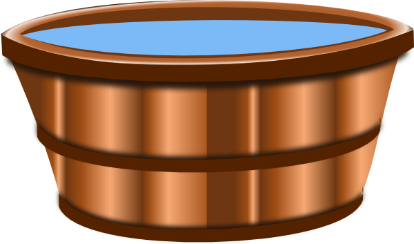 Cartoon Wooden Bucket Of Water Wooden bucket clip art