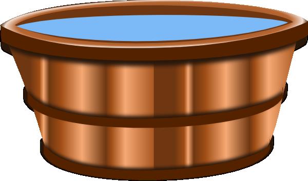 Cartoon Wooden Bucket Of Water Wooden bucket clip art