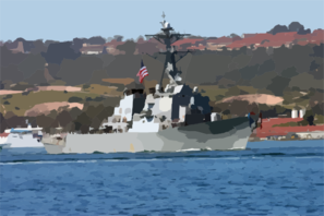 The Guided Missile Destroyer Uss Decatur (ddg 73) Makes It Clip Art