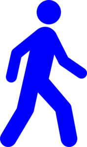 Walking Man Blue Clip Art