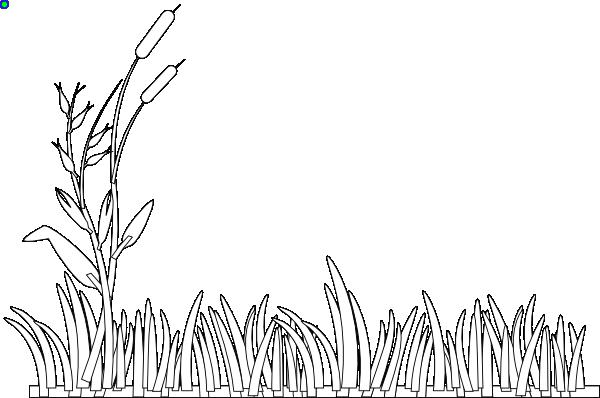 White Grass Clip Art At Clker