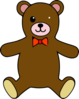 Teddy Bear Colorable Line Art Baby Animal Pictures Clip Art