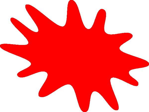 Red Splat Clip Art at Clker.com - vector clip art online ...