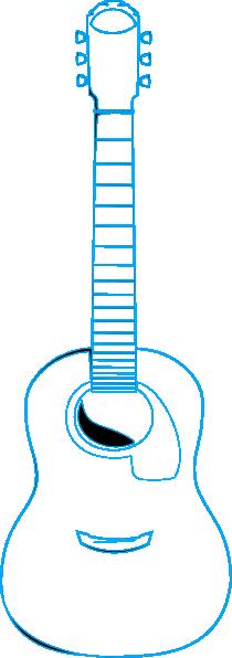 guitar outline electric blue clip art at clkercom