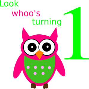 Look Whoos Turning One Addison Clip Art