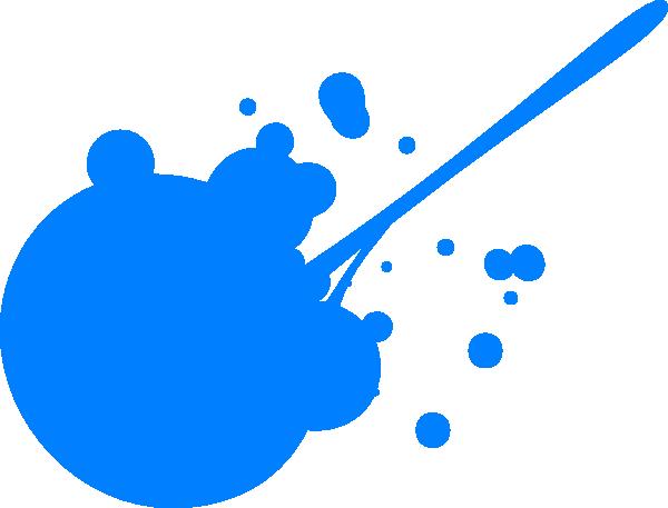 blue paint splatter clip art at clker com vector clip art online