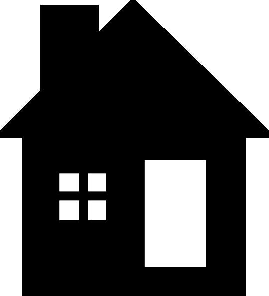 blackwhite house clip art at clkercom vector clip art