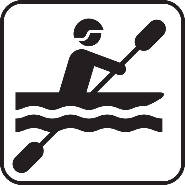 Kayaking clipart