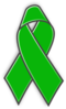 Green Awareness Ribbon Clip Art