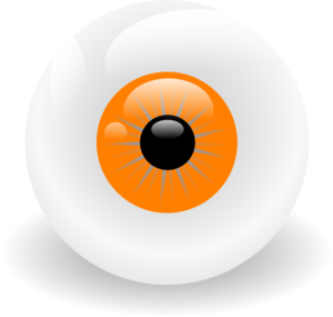 Eye Ball Orange Clip Art
