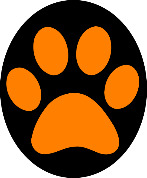 panther paw print clip art at clkercom vector clip art